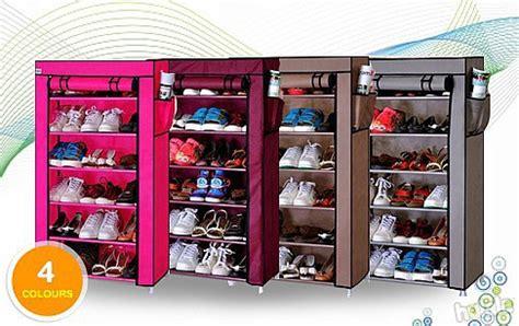 Rak Sepatu Kain 5 Susun jual 7th dusk cover rak sepatu kain lemari packing 7