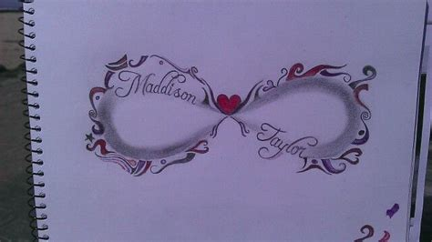 multiple name tattoo designs infinity design with two childrens names in shaded