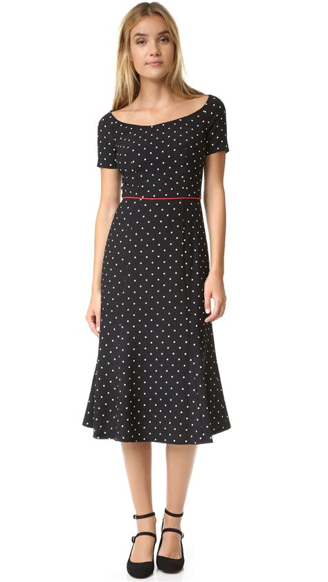 Denim Dress Polkadot Murah lyst black halo nella polka dot dress