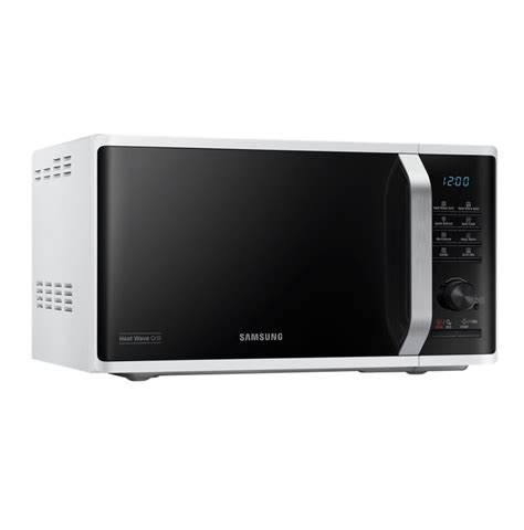 Samsung Microwave Grill samsung mg23k3575aw 800w white freestanding microwave with