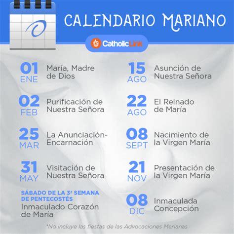 calendario mariano evangelizacin catlica dos corazones catholic link recursos para la nueva evangelizaci 243 n