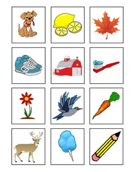 Free Printable Noun Picture Cards