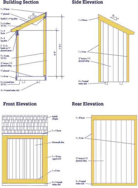 4 X 10 Shed Plans by Diy 4 By 10 Shed Plans Gabret