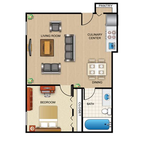 1 bedroom 1 bath apartment 1 bedroom bath apartment floor plans