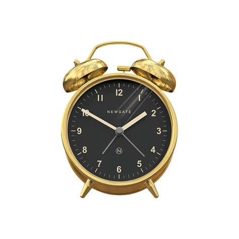 newgate bell alarm clock metallic at lewis