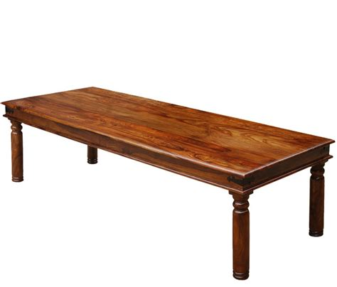 solid wood large 10 seat rustic dining room table