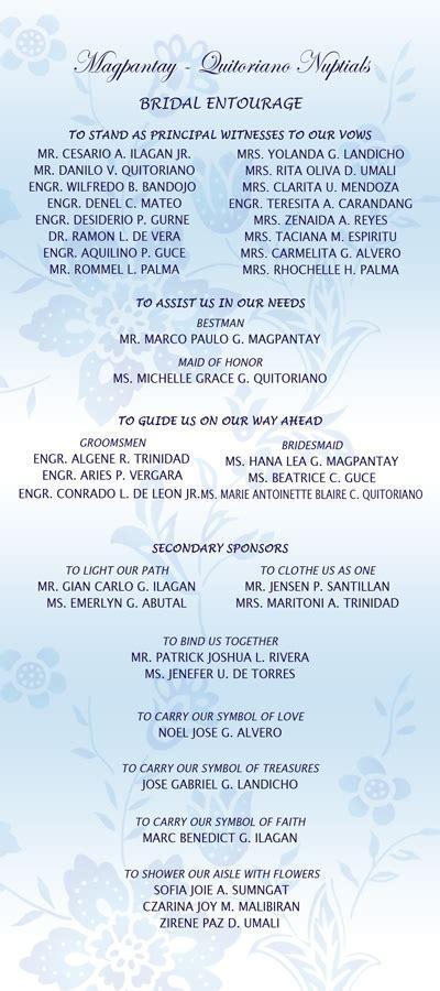 Wedding Entourage Song List wedding planning guest list entourage list