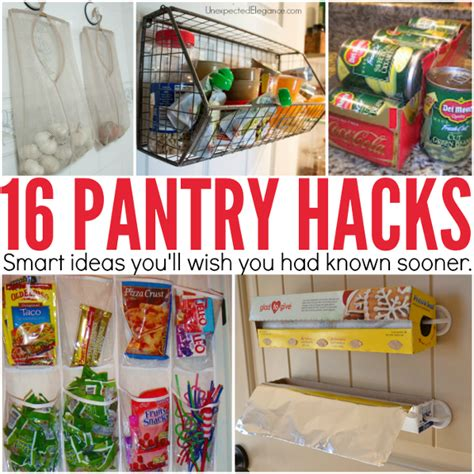 organizing hacks diy home sweet home 16 pantry organizing hacks