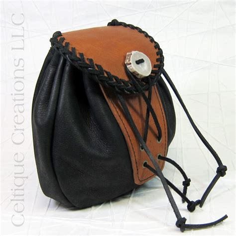 Handmade Sporran - black and brown handmade rob roy sporran celtique creations