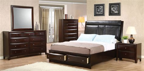bedroom sets phoenix phoenix upholstered storage bedroom set from coaster