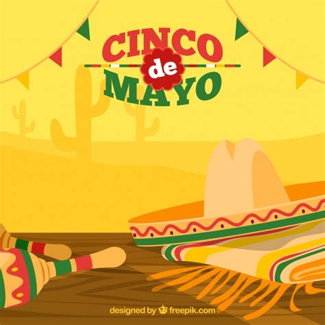 cinco de mayo background great background with hat and maracas for cinco de mayo