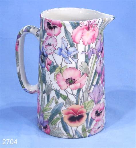 Milk Jug Vase by China Pansies And Poppies Milk Jug Flower Vase