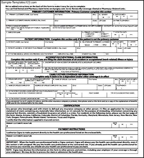 medical claim form medical expenses claim form 51 sle
