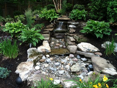 Aquascape Water Features pondless water features landscape traditional with bolder garden grasses patio beeyoutifullife