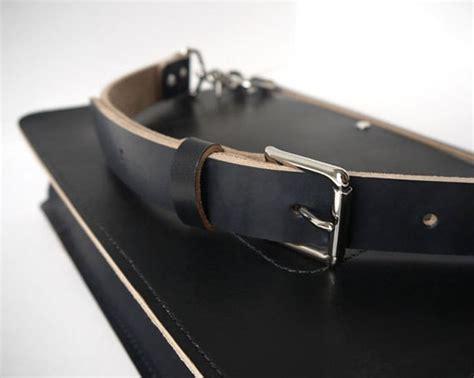 Handmade Leather Messenger Bag - handmade black leather messenger bag veg basader