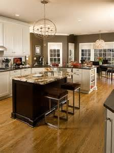 Brown And White Kitchen Cabinets White Kitchen Cabinets Color With Chocolate Brown Wall Paint And Dining Table Sets Nytexas