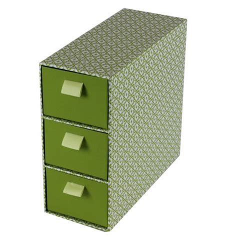 Decorative Storage Boxes With Drawers by Jvl 3 Drawer Decorative Storage Box Cardboard Slim Retro