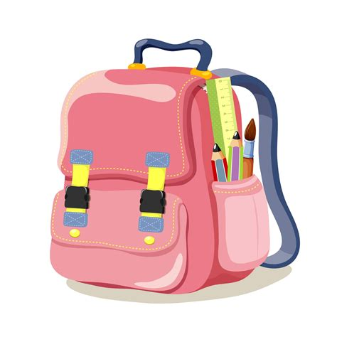 5 cartoon school bags clipart best clipart best