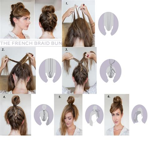 ways to braid your hair for a sew in diy french braid bun hairstyle fabdiy