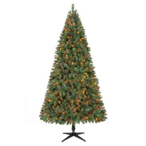 9 ft wesley mixed spruce artificial christmas tree with