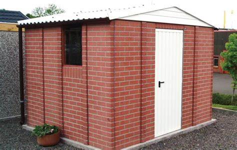 concrete sheds brick effect cheap concrete garden sheds