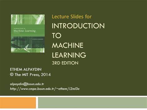 introduction to machine learning ppt video online download introduction to machine learning 3rd edition ppt video