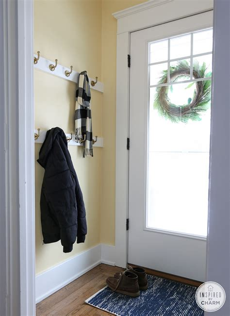 white small entryway coat rack with bench stabbedinback small house decorating homedecoringideas us