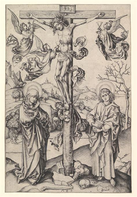 martin schongauer crucifixion   angels  met