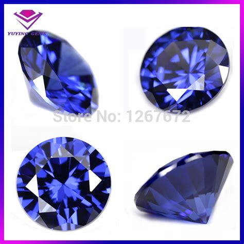 8mm cz gems name blue gemstone synthetic