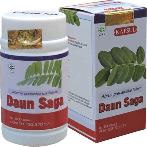 daun saga tazakka obat herbal sariawan batuk