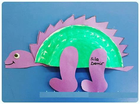 Paper Dinosaur Craft - crafts actvities and worksheets for preschool toddler and
