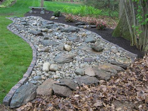 garden bed rocks river bed landscaping pictures decorative landscape