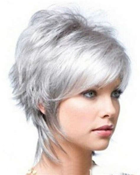 new wig styles for 2015 2015 fashion wig new charm women s short silver gray full