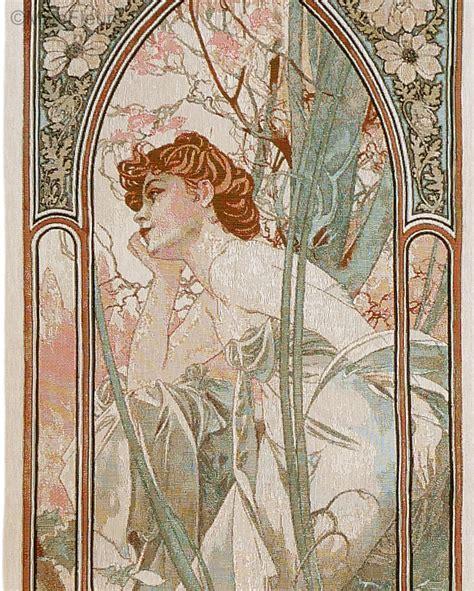 Tapisserie Mucha by R 234 Verie Du Soir Alfons Mucha Tapisseries Murales