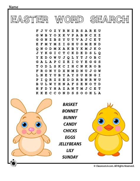 free printable easter word search worksheets 14 best images about easter packet on pinterest easter