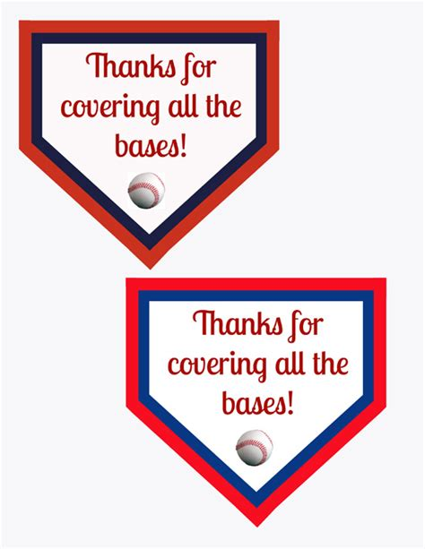 printable baseball quotes thanks for covering all the bases appreciation printable