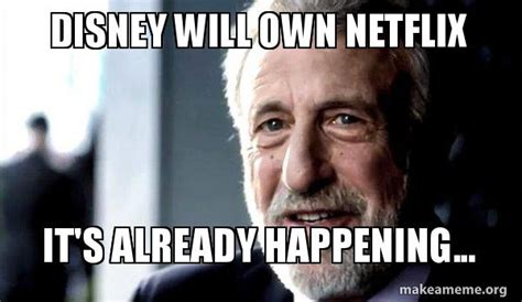 George Zimmer Meme - disney will own netflix it s already happening and chill make a meme