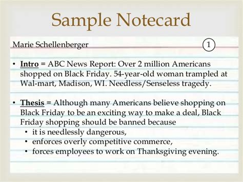 speech note card template conclusions and notecards