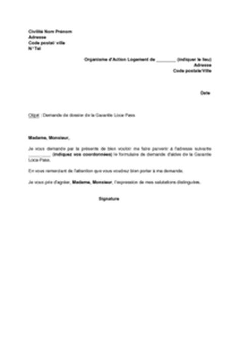 Modèle lettre de garant financier