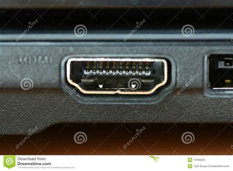 what is a port macro hdmi port stock photo image 14166030