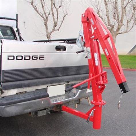 truck bed hoist xtremepowerus 500 lb pickup truck hydraulic pwc dock jib