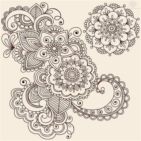 paisley flower tattoo design images