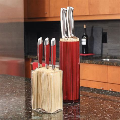 homemade kitchen knives make custom knife blocks that hold any mismatched