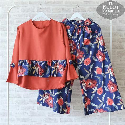 Sale Batik Setelan by Sale Cuci Gudang Setelan Kulot Kanilla Cs023
