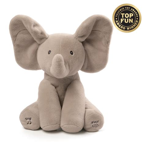 amazon com gund baby animated flappy the elephant plush