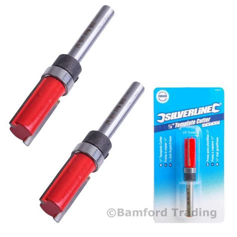 2 x silverline 868626 14 tct template cutter router bit