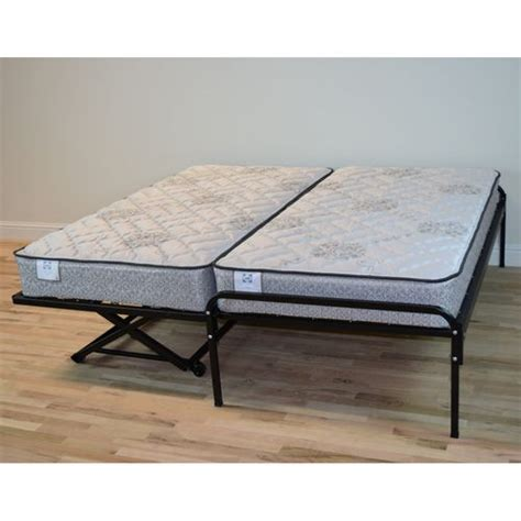 trundle bed pop up finally exactly what i was looking for duralink twin trundle beds high rise frame