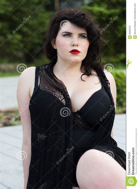 beautiful plus size woman royalty free stock photography