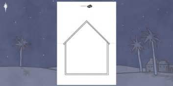 nativity card templates nativity stable card template nativity