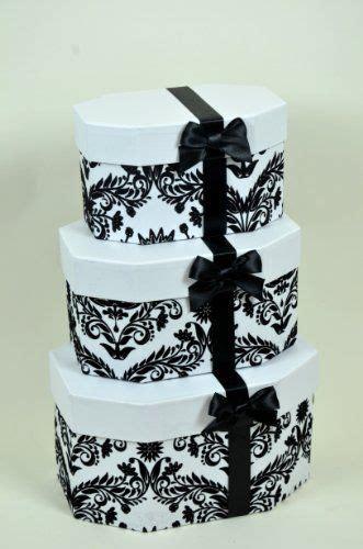 black  white elegant design nesting gift boxes set